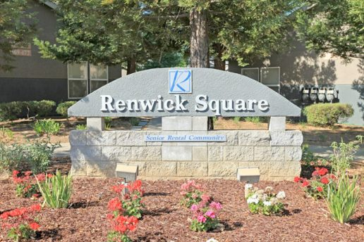 Renwick Square stone sign,